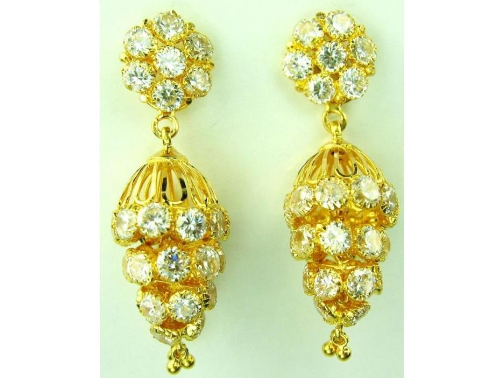 Delighted Indian Gold Jewellery Earrings Images - Jewelry ...