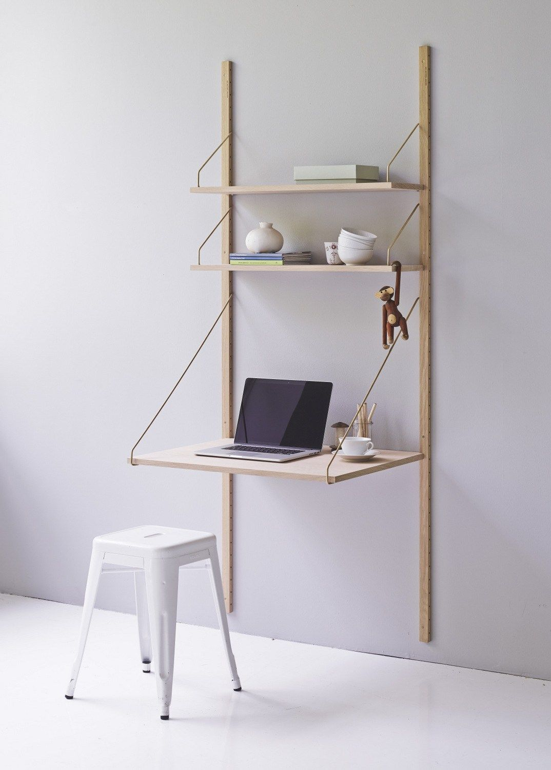 Wall Mounted Sectional Walnut Bookcase Royal System By Dk3 Aps Design Poul Cadovius