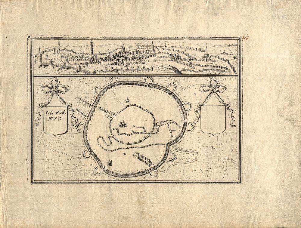 Leuven Map 1700s Leuven History Pinterest History