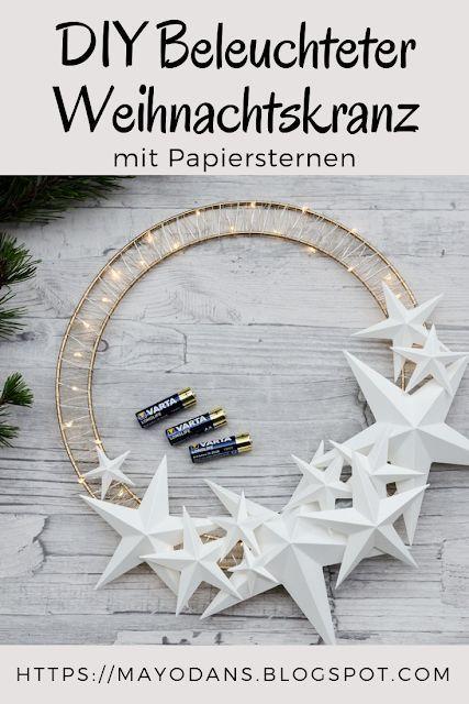 (Anzeige) DIY Beleuchteter Weihnachtskranz und aufgehübschte LED-Kerzen mit VARTA Batterien + Verlosung