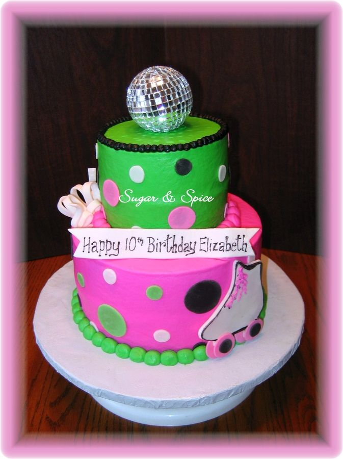 Phenomenal Rollerskate Disco Cake 3D Roller Skate And Disco Ball Cake My Funny Birthday Cards Online Inifofree Goldxyz
