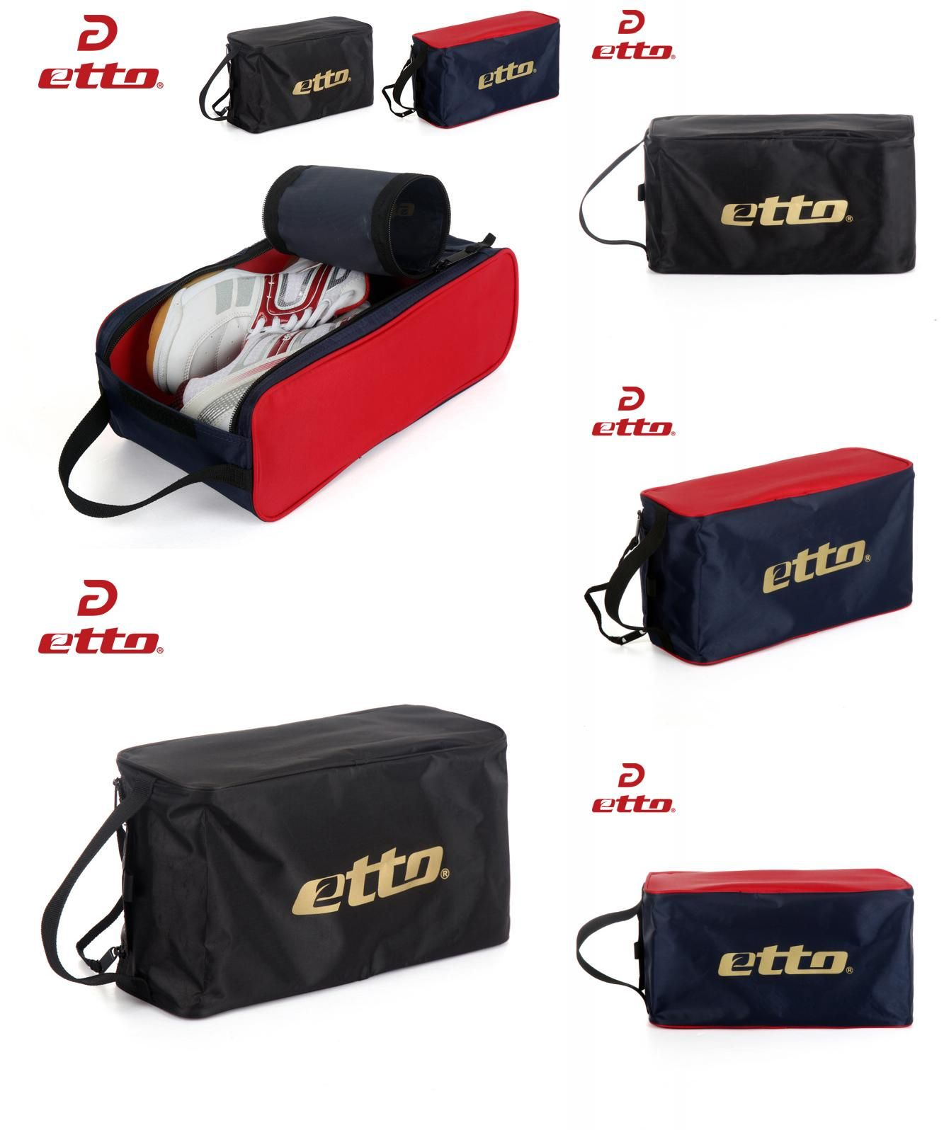 a5e4e6ce3b44  Visit to Buy  Etto New Folding Soccer Sport Shoes Storage Bags Men Women  Mulitifunctional