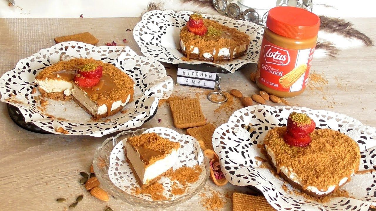Cheesecake Lotus Sans Cuisson تشيزكيك اللوتس بدون فرن خطوة بخطوة على Food Breakfast Toast