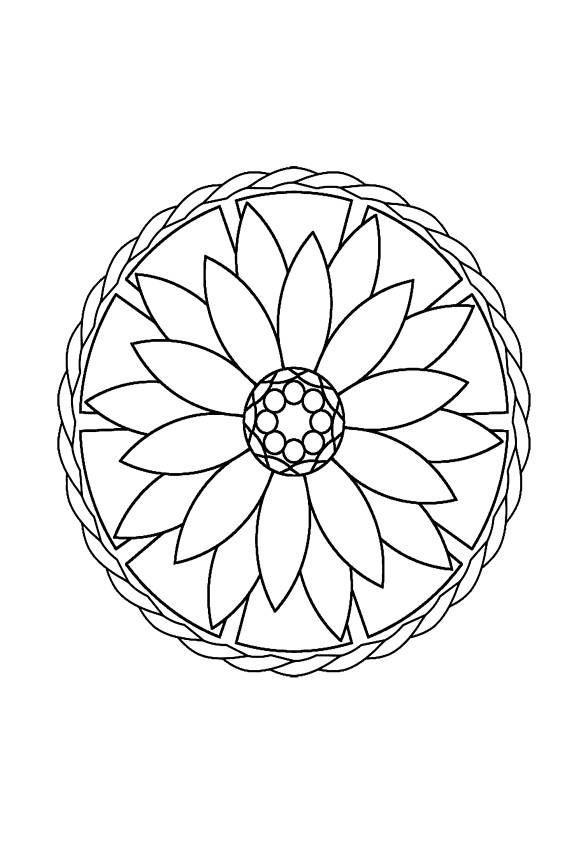 I Love Mandalas Easy Mandalas Coloring Therapy Volume 2