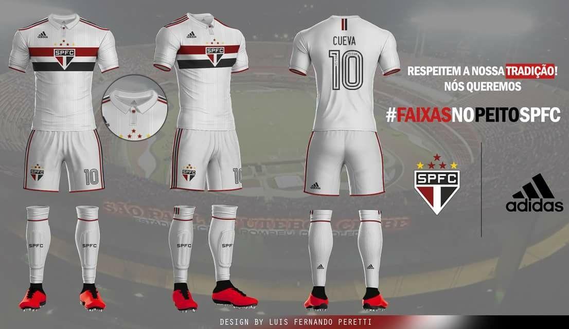 92acd5c3bf Uniforme 01 Adidas São Paulo futebol clube   Micas Fút..   São paulo ...