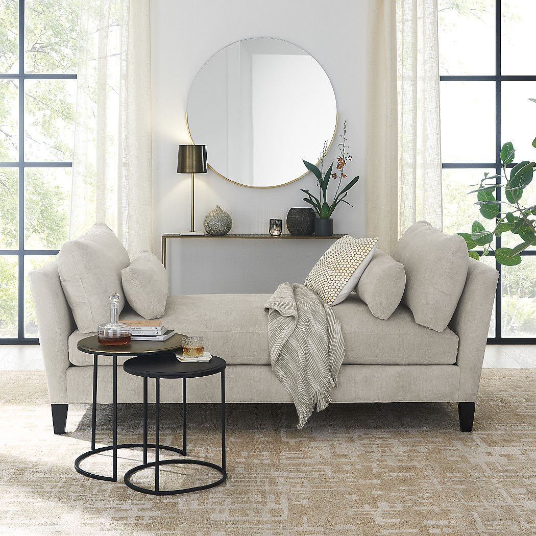 Gerald Small Round Wall Mirror Bedroom Daybed