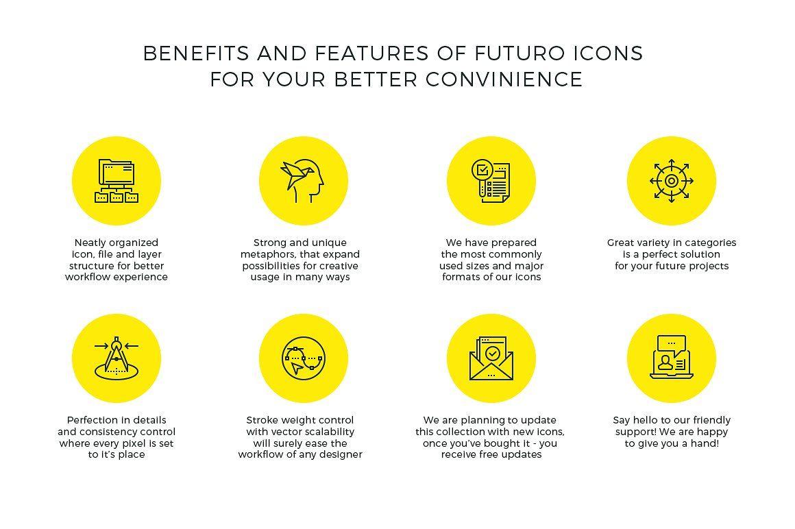 Futuro Line Icons by Bloomicon on @creativemarket | icon