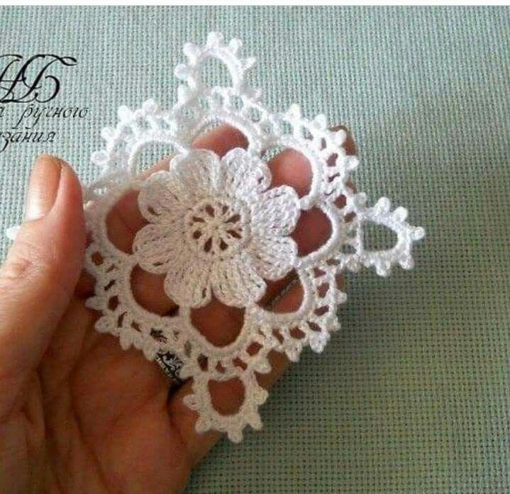Double Flower  005 Miniature Dollhouse 2 Black Cotton Doily