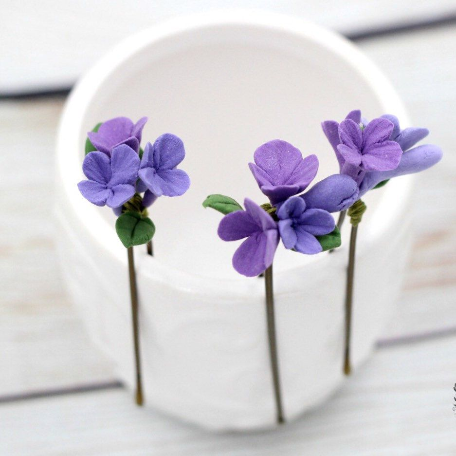 Lilac Hair Pin Hair Accessories Wedding Hair Pin Lilac Flower Bridal Hair U Pin Bridal Hair Accessories Bridesmaid Hair Pin Lilac Bridal Hair Pins Bridal Hair Accessories Bridesmaid Flowers