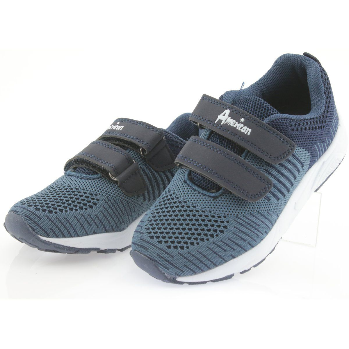 American Club Buty Sportowe Na Rzepy American Ca05 Granatowe Sports Shoes Shoes Kid Shoes