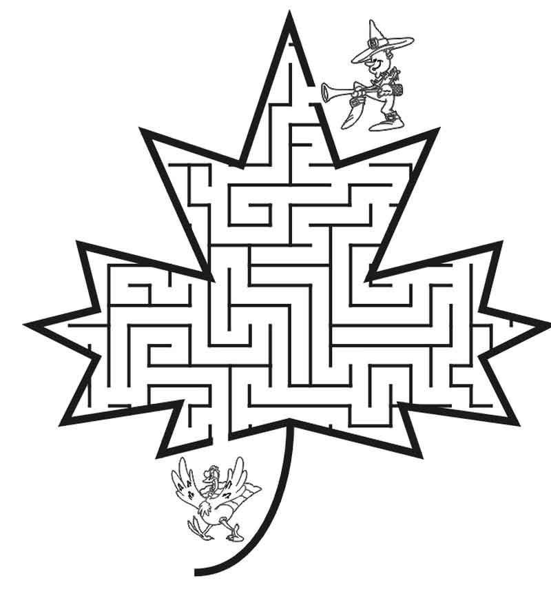 Read moreThanksgiving Child Mazes | Fall coloring pages ...