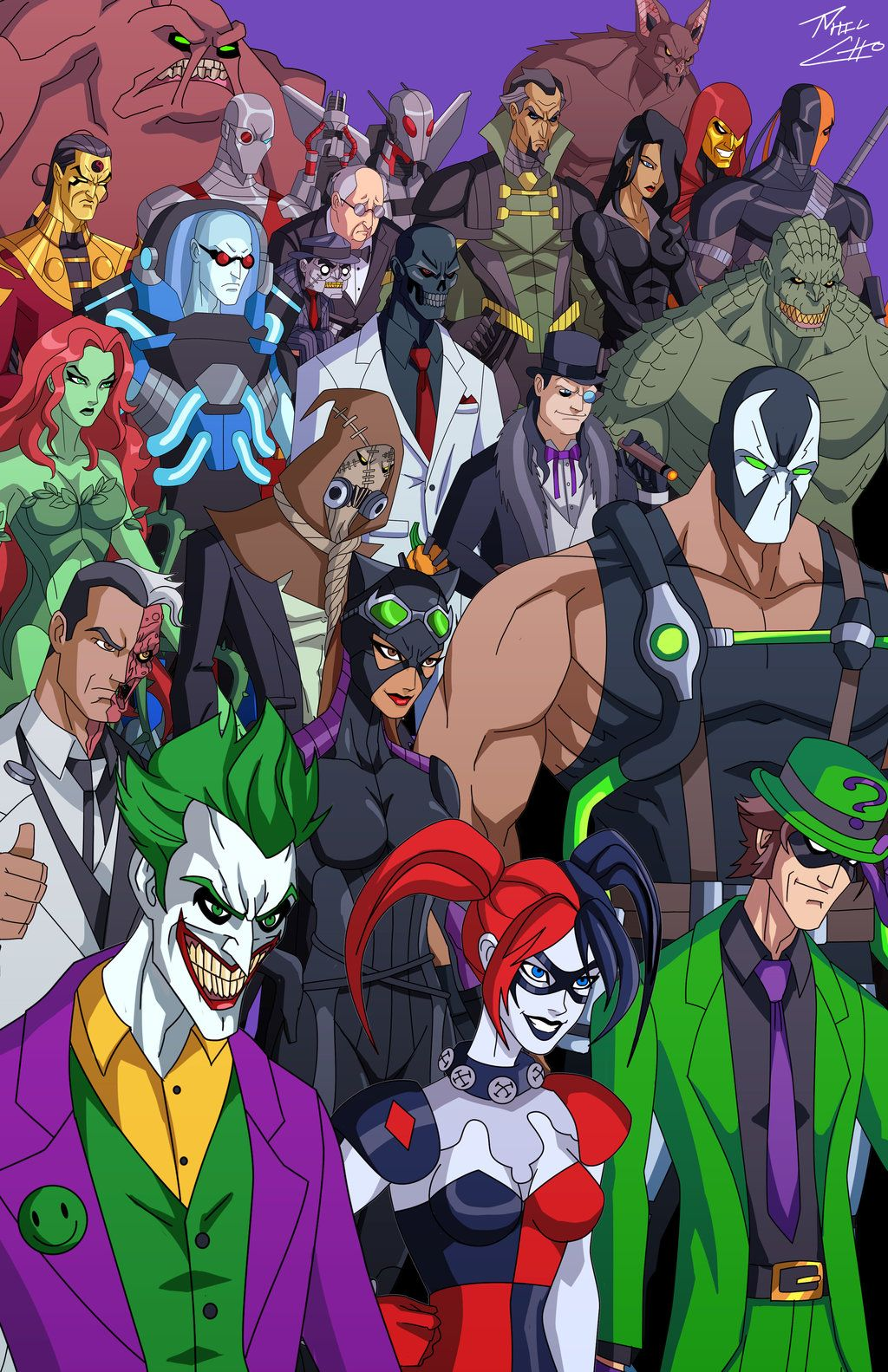 Rogues gallery by phil choiantart on deviantart harley batman villains by phil cho buycottarizona Images