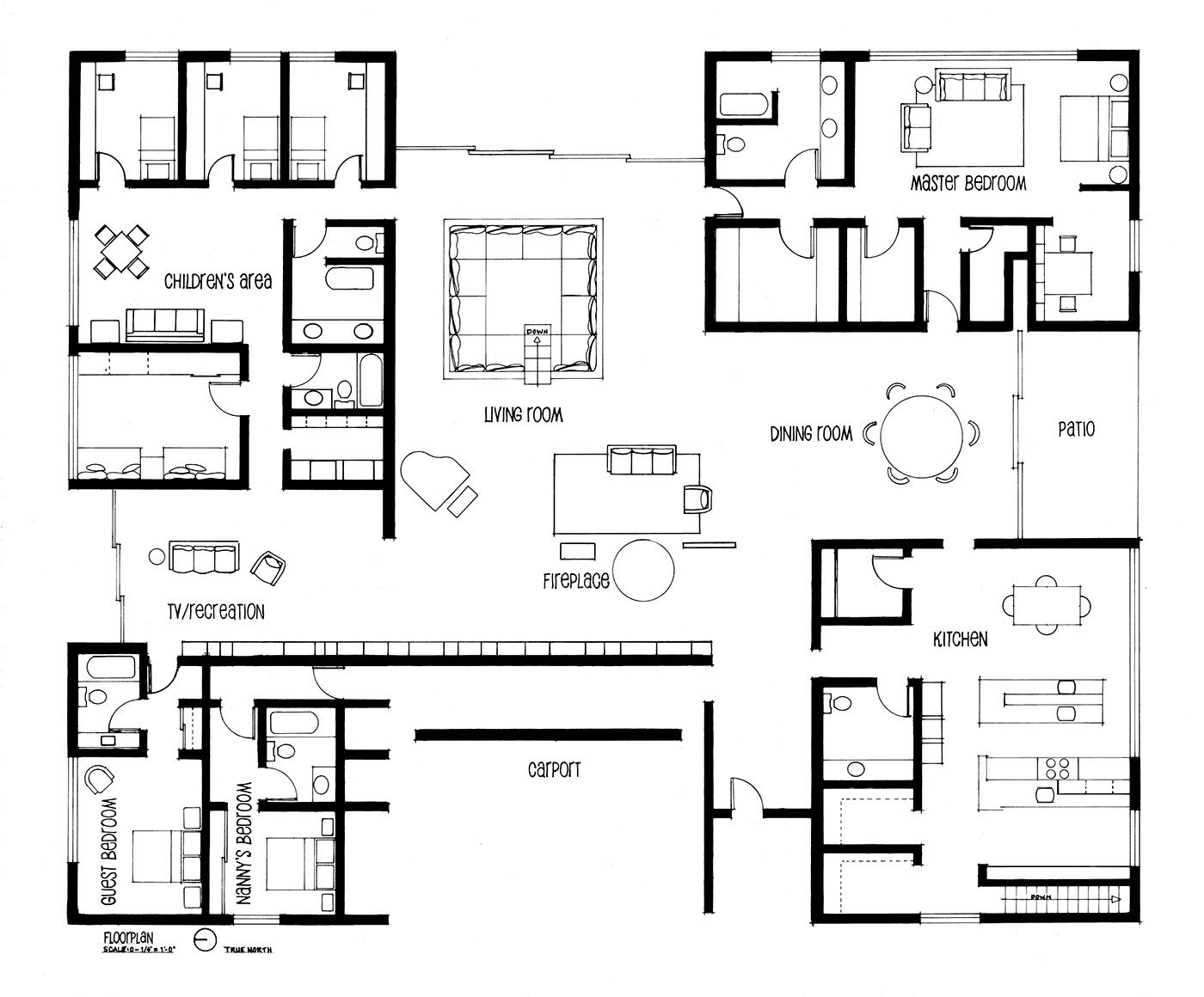 using 1950s blueprints i recreated and hand drafted eero saarinen s