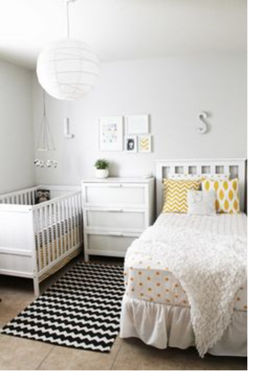 Very Gender Neutral Bedroom Nursery White Black And