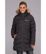 MARMOT Women's  Quebec 700 Fill  Down Puffer Coat  with Faux Fur Hood Size:L NWT