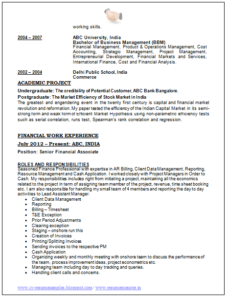 best resume format of 2015 page 2 - Current Cv Format