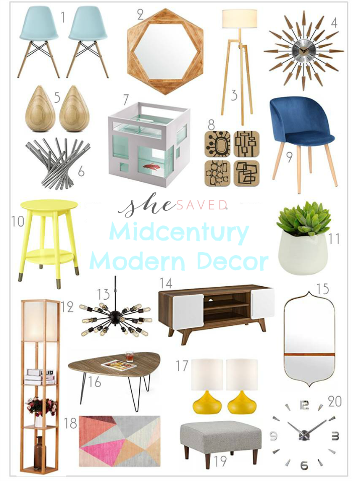 Home Decorating Midcentury Modern Decor Items Mid