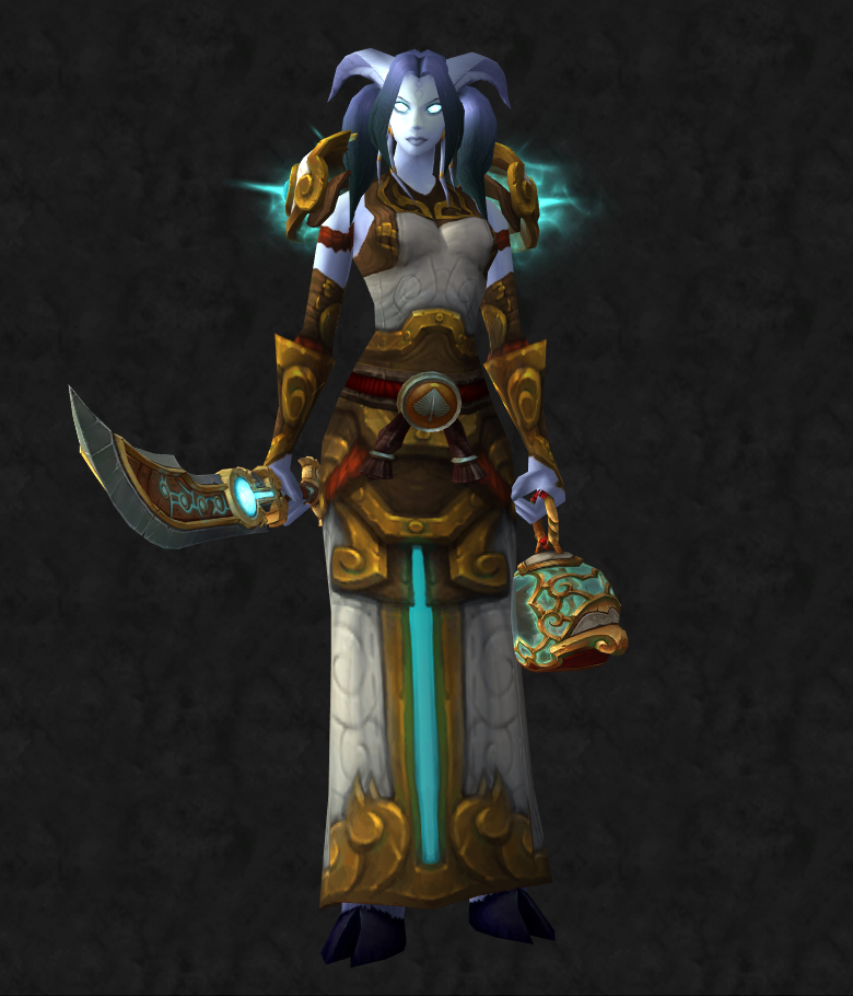 Female Draenei Monk Transmog Super Cool World Of Warcraft Weapons
