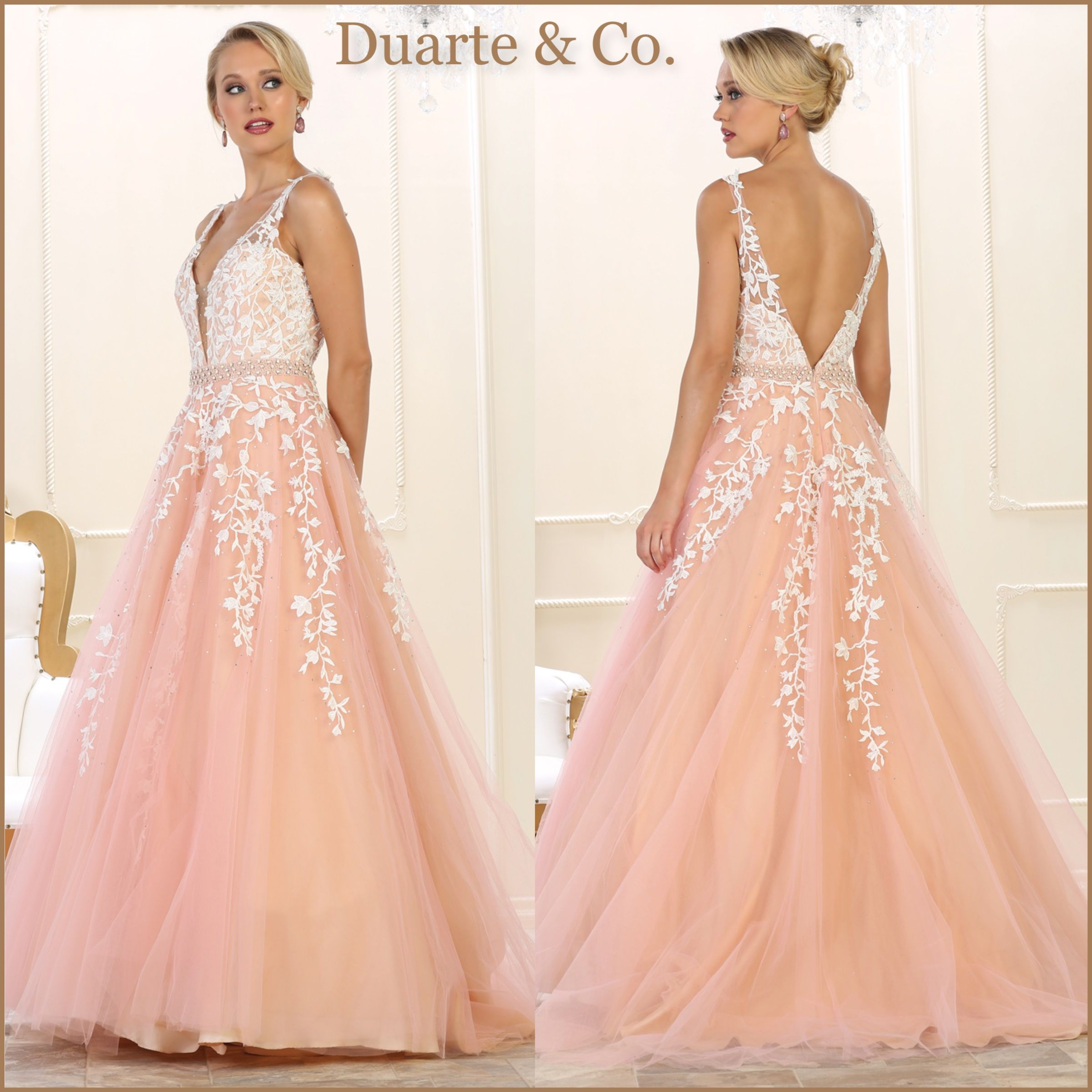 Lace Ball Gown W/Plus Sizes - RQ7613 | Prom & Party Dresses ...