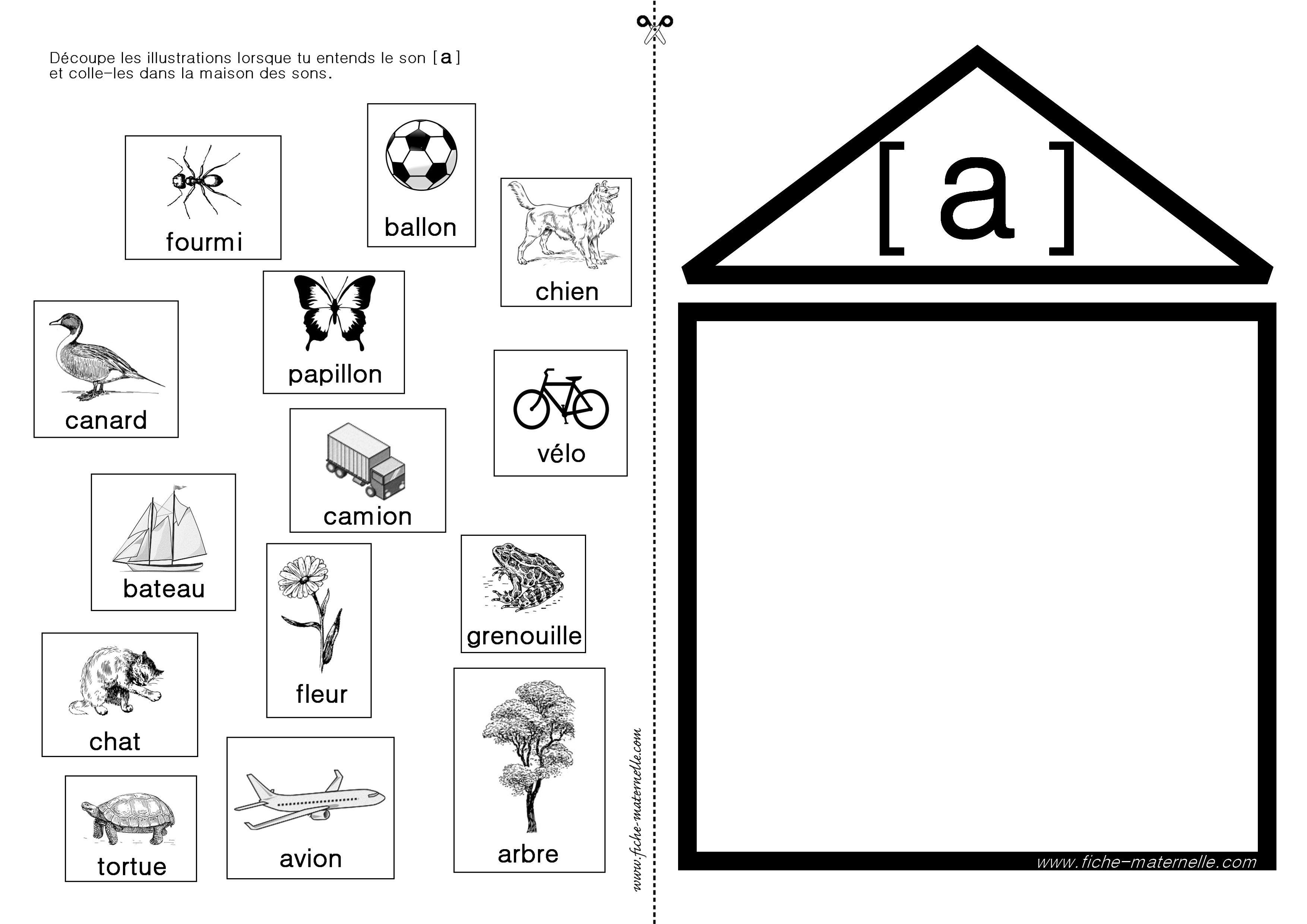 apprendre lire en maternelle et cp exercices autour du son a ecole phonologie langage. Black Bedroom Furniture Sets. Home Design Ideas