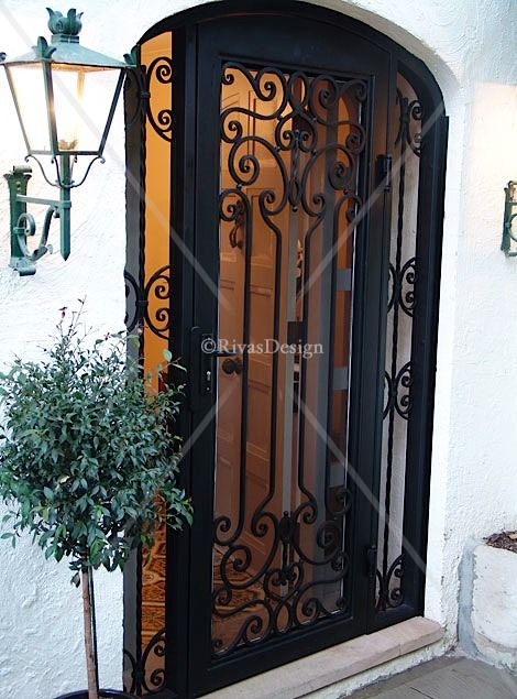 Love This Wrought Iron Security Door With White Door Behind With