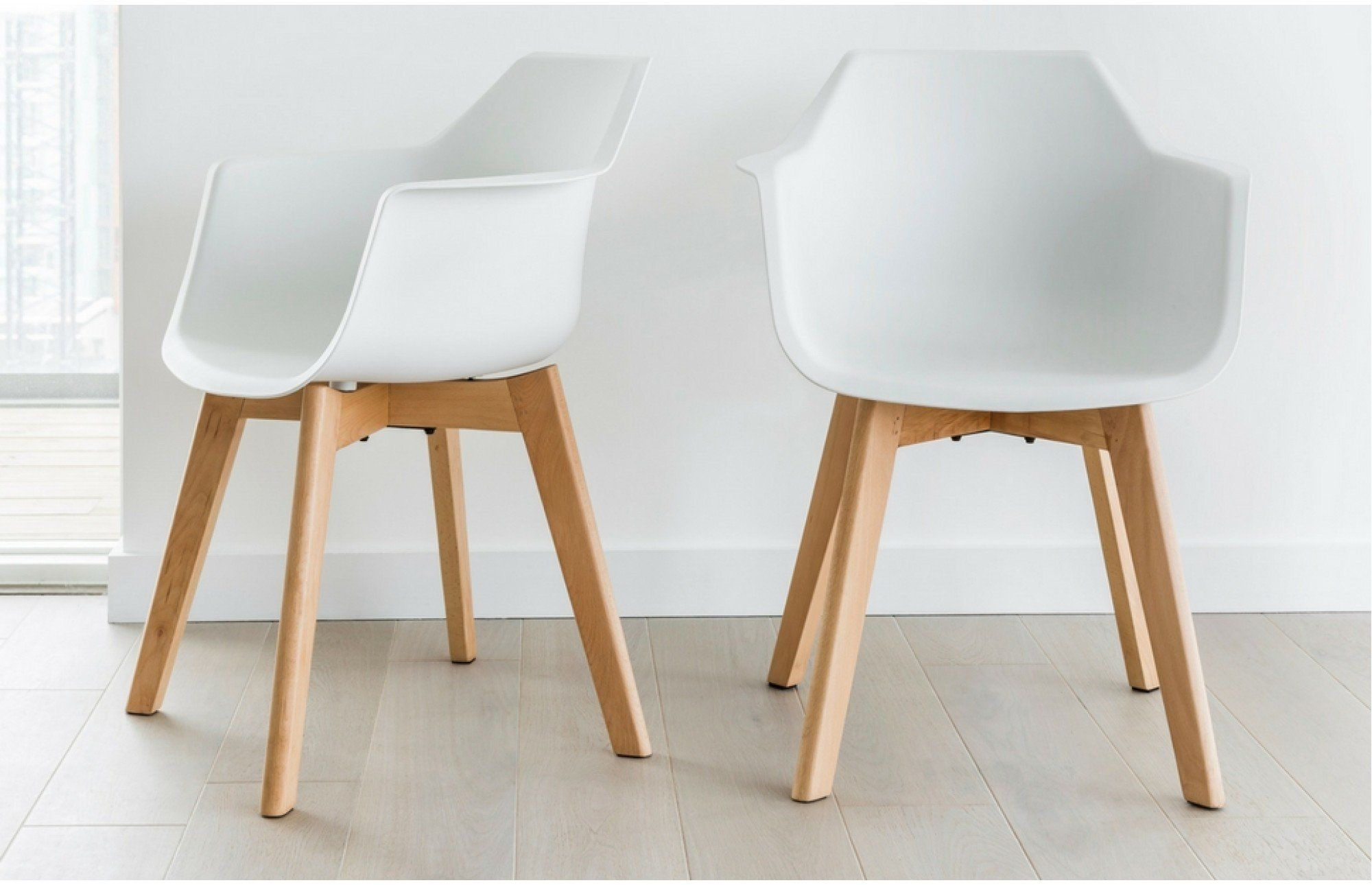 Exceptionnel Amelia   White Bucket Chairs   Set Of 2