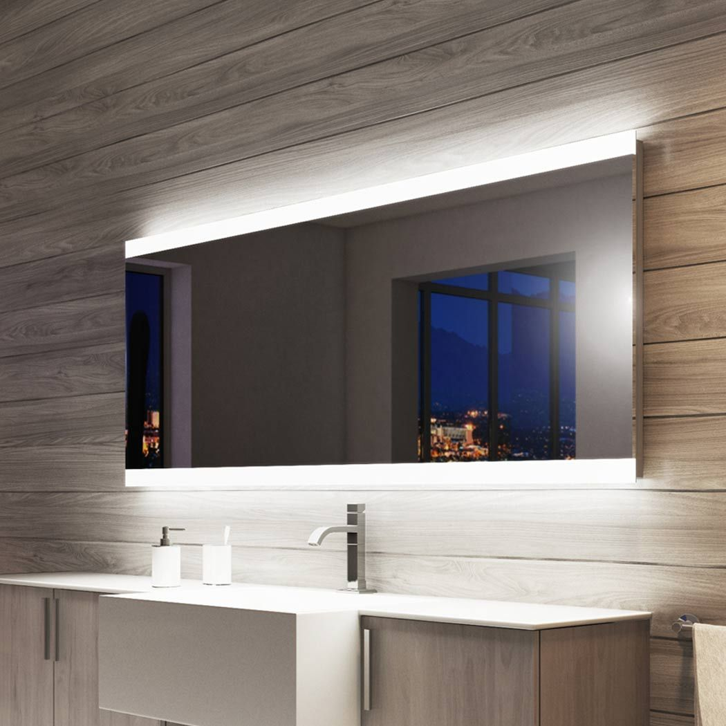 Light Mirrors Halo Enlighten Range Bathroom Mirror With Shaver Socket Amp Demister Led Mirror Bathroom Lighted Bathroom Mirror Bathroom Mirror