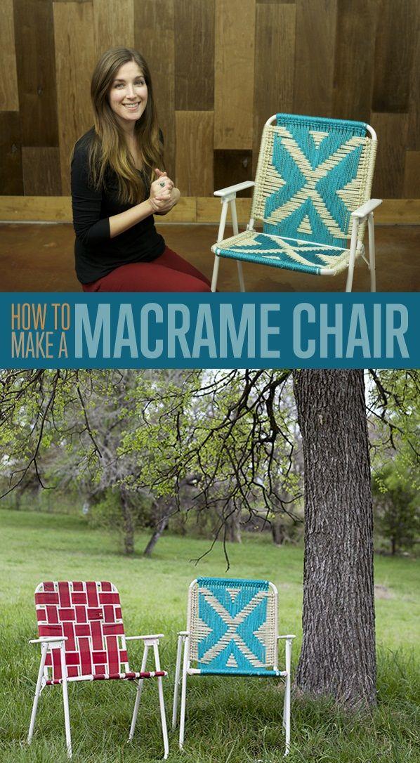 diy macrame lawn chair outdoor crafts pinterest diy craft