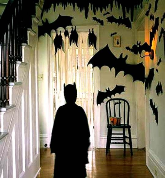 chic decor foyer budget for cheap halloween decorations