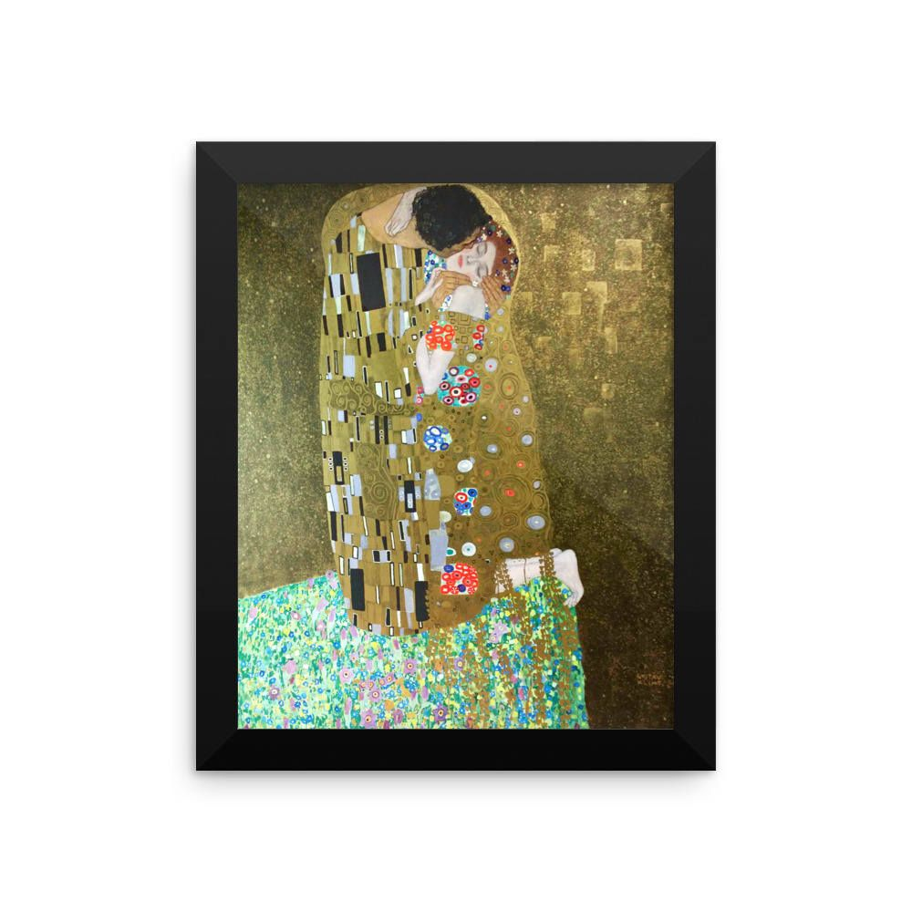 Gustav Klimt Kiss Framed Poster Print | Klimt, Printmaking and ...
