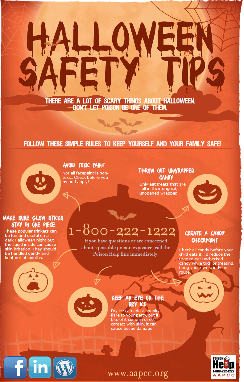 AAPCC Halloween Safety Infographic Halloween safety tips