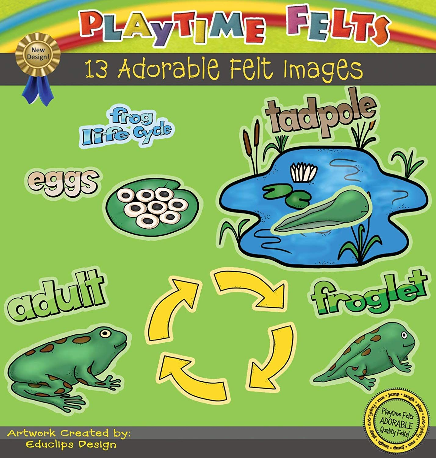Amazon Playtime Felts Frog Life Cycle Story Set For