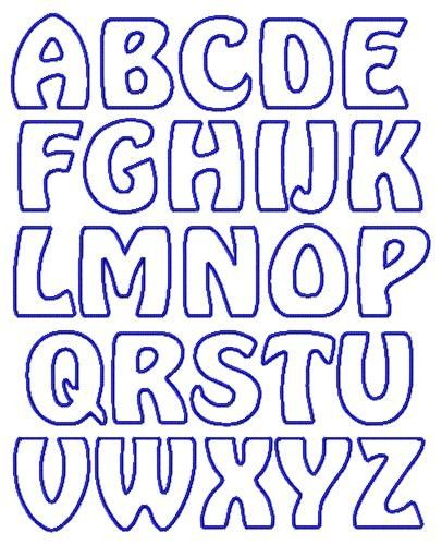 photograph relating to Free Printable Alphabet Stencils Templates named applique letter templates absolutely free - Google Seem Letters