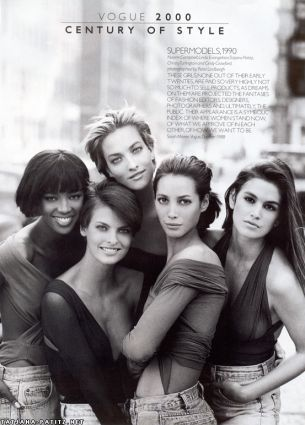 Vogue supermodels cover 1990
