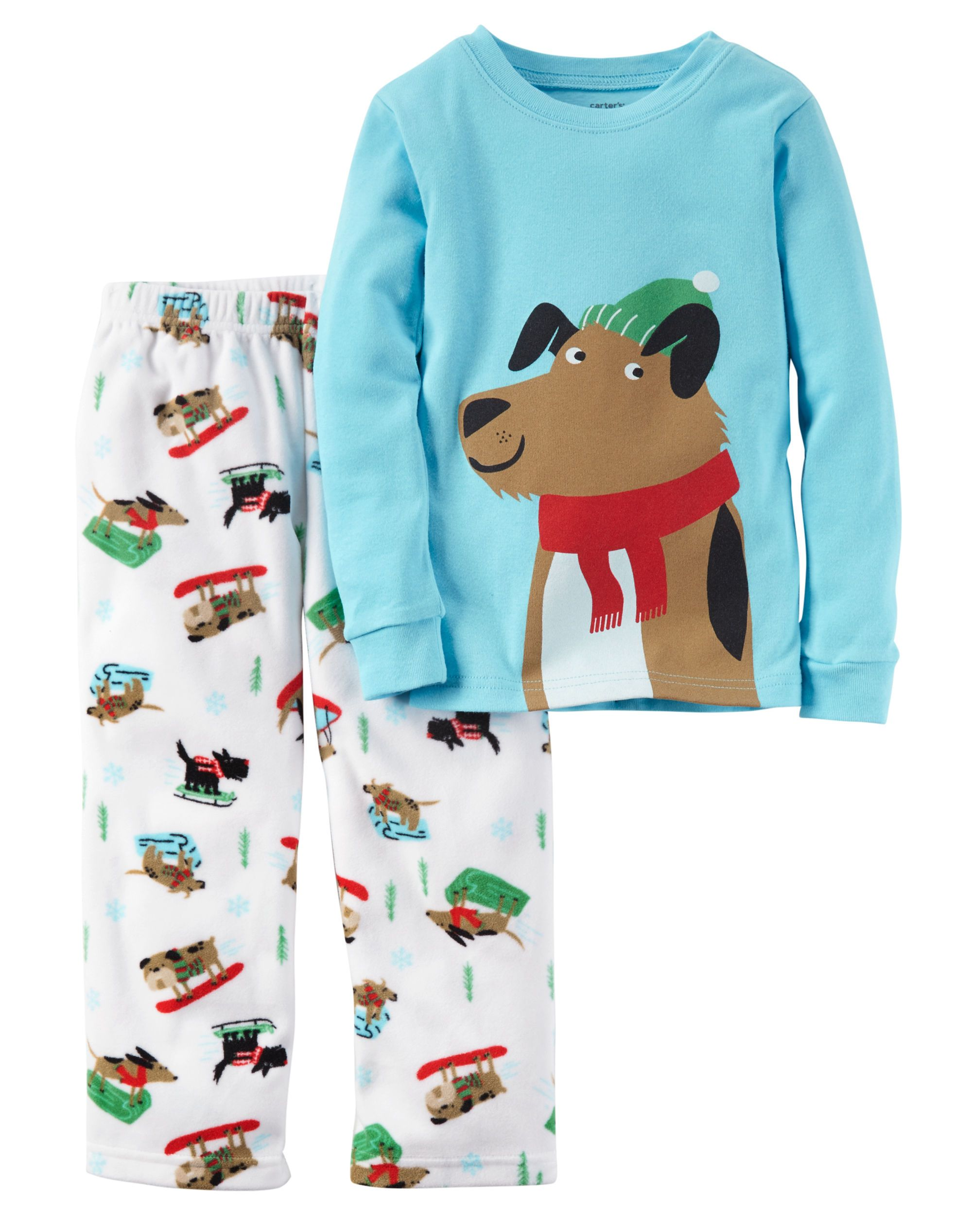 Baby Boy 2-Piece Cotton & Fleece PJs | Carters.com