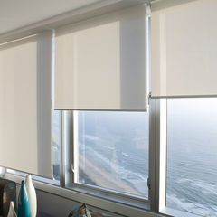 Sunfilter Roller Blinds In A Lounge Over Looking The Beach By Curtain Design Blinds For Windows Curtains With Blinds Blinds Design