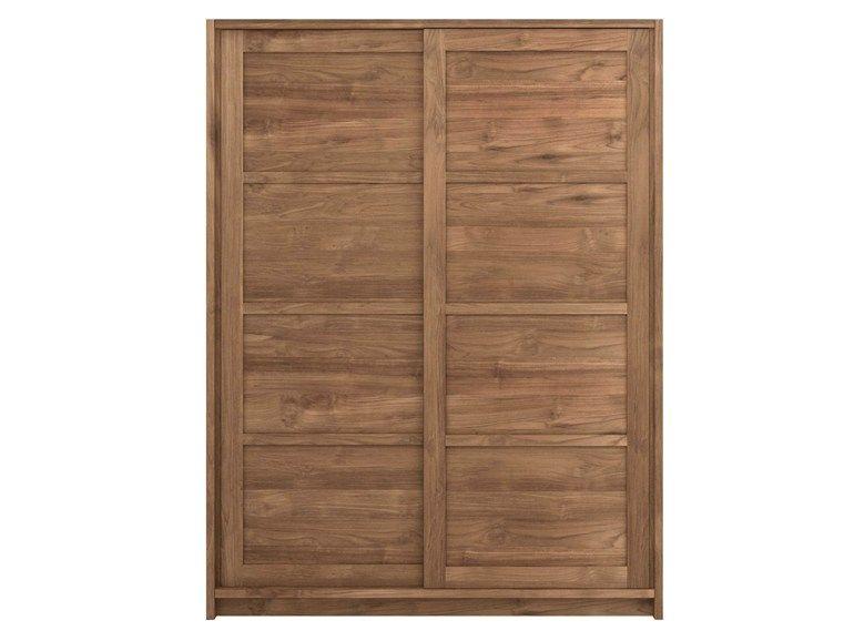 TEAK KNOCKDOWN Wardrobe with sliding doors by Ethnicraft