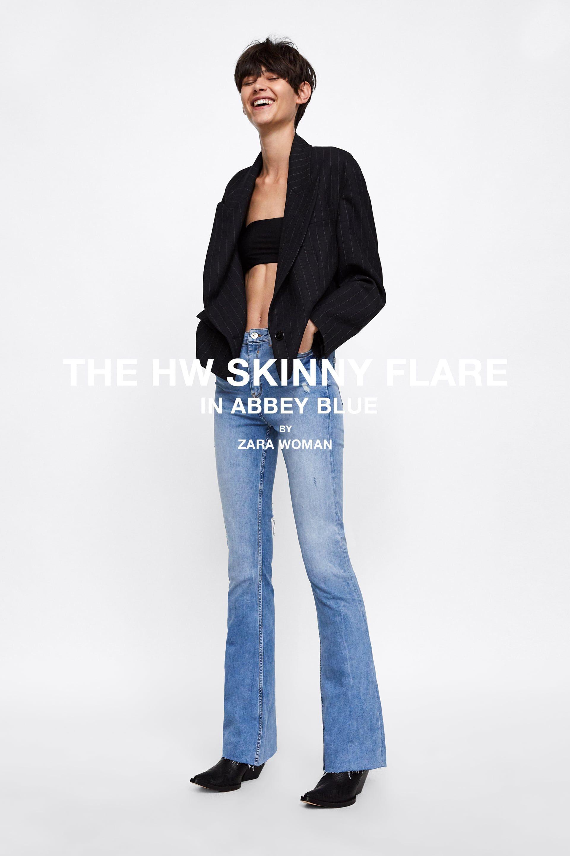 43bb1ecd Zw premium skinny flare abbey blue jeans in 2019 | : denim A/W ...