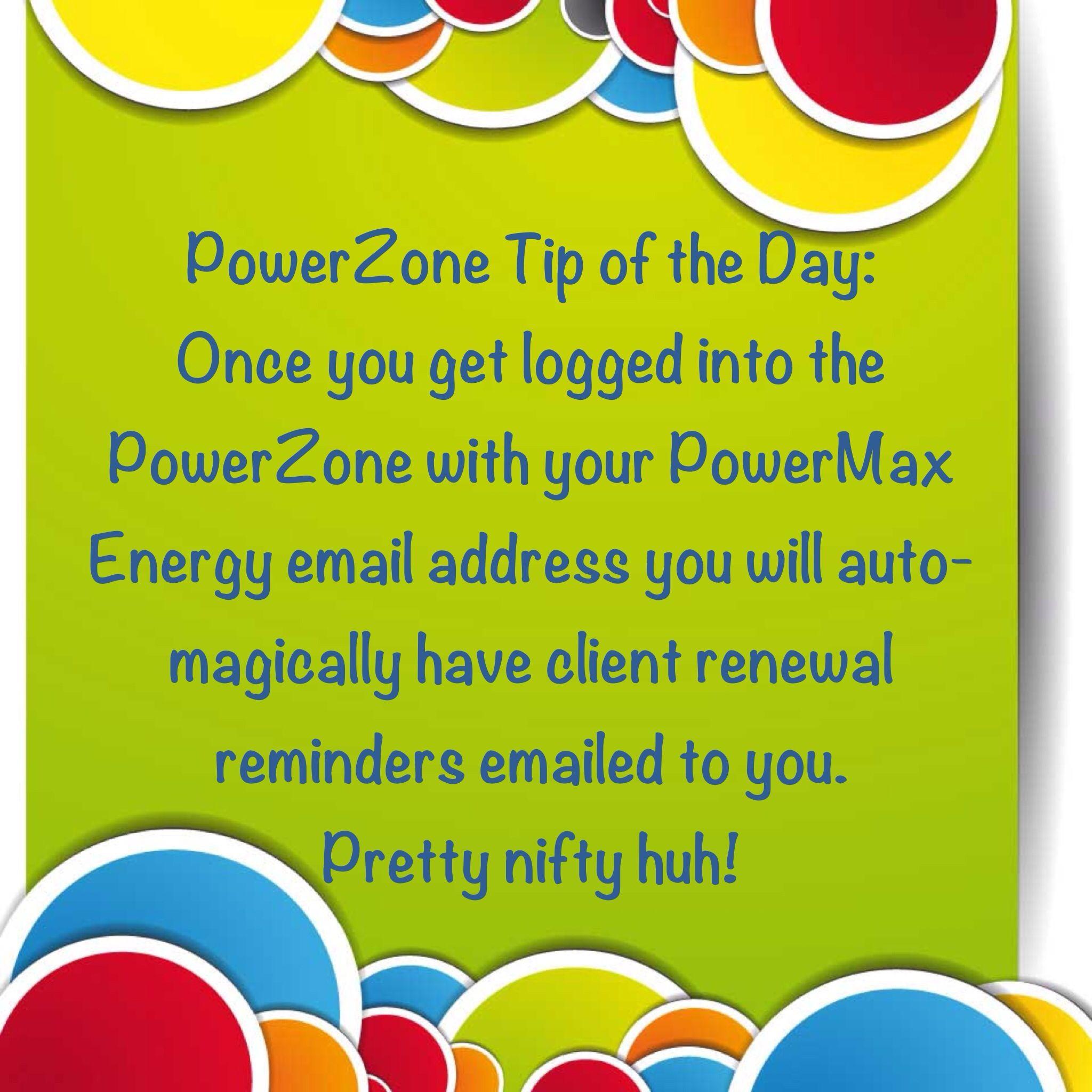 PowerMax Energy TEAM Tip of the Day