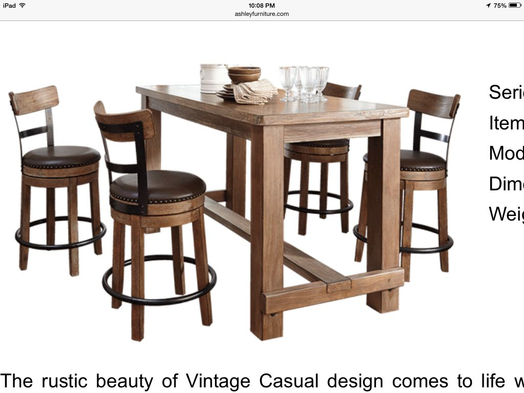 I Want This Table Ashley Furniture Furniture Counter Table