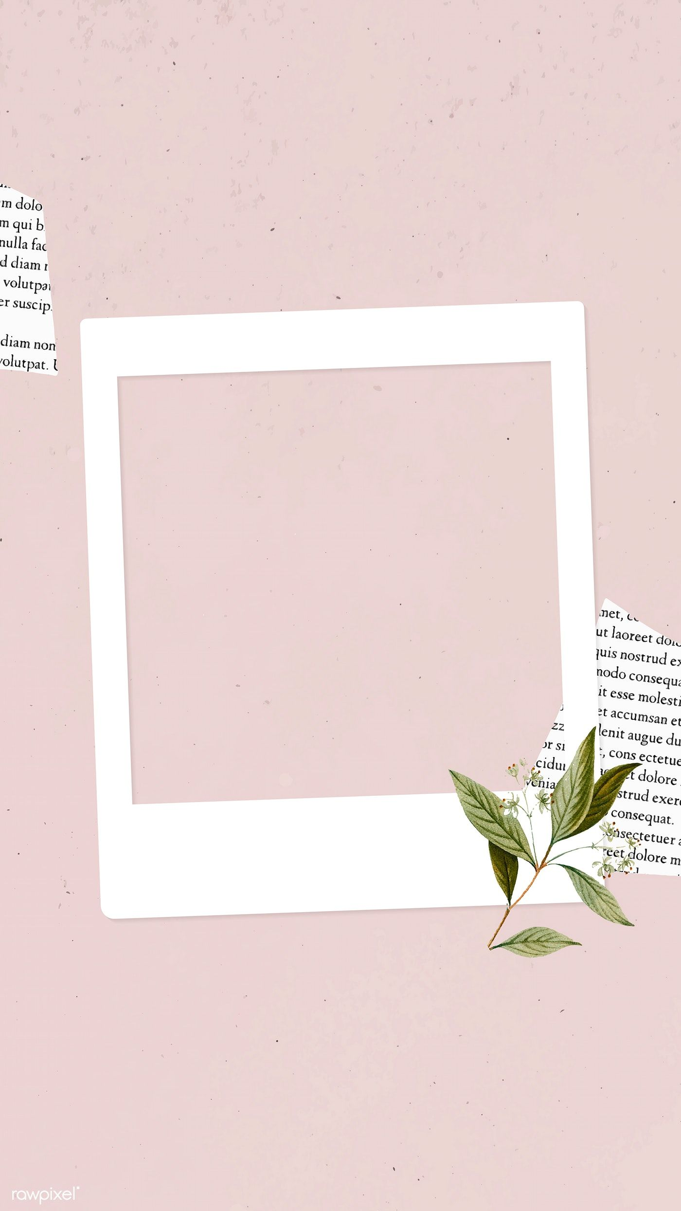 Download Premium Vector Of Blank Collage Photo Frame Template On Pink Photo Collage Template Instagram Frame Template Instagram Photo Frame