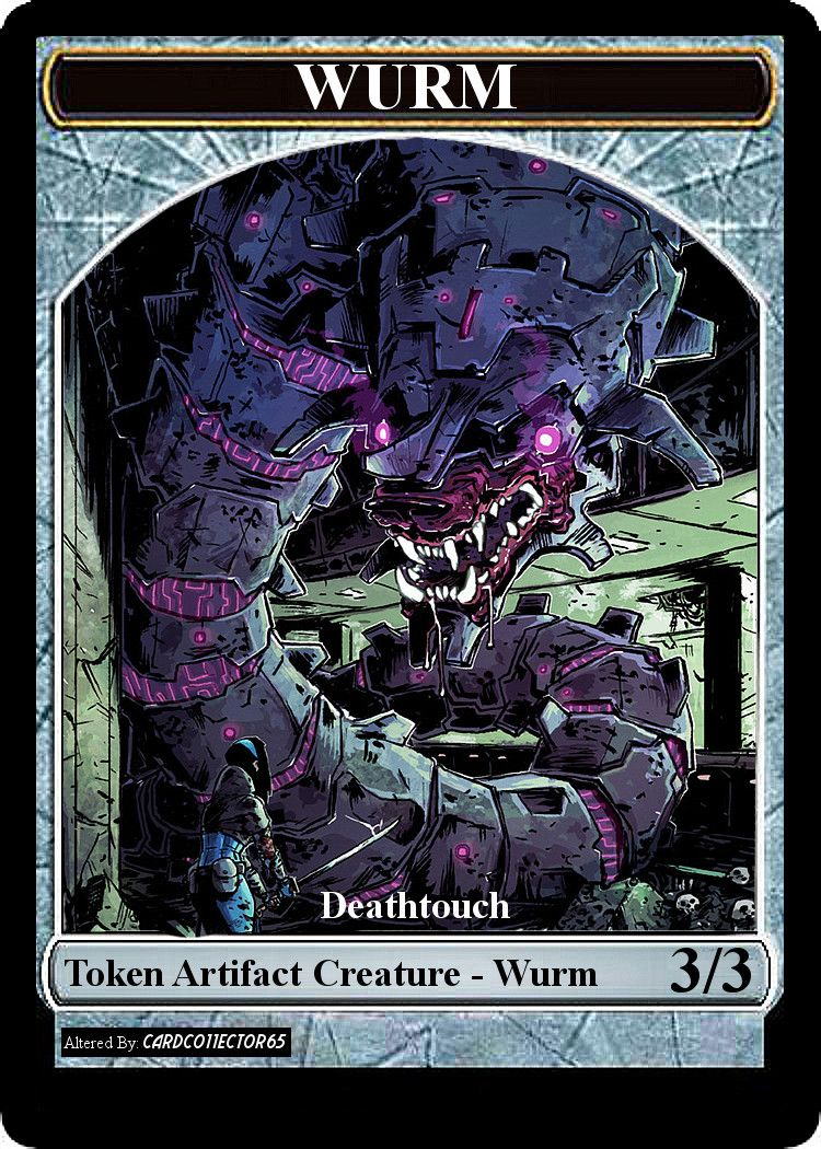 graphic about Printable Mtg Tokens called Wurm, Deathtouch, Comedian - MTG - Token Tokens MTG Magic