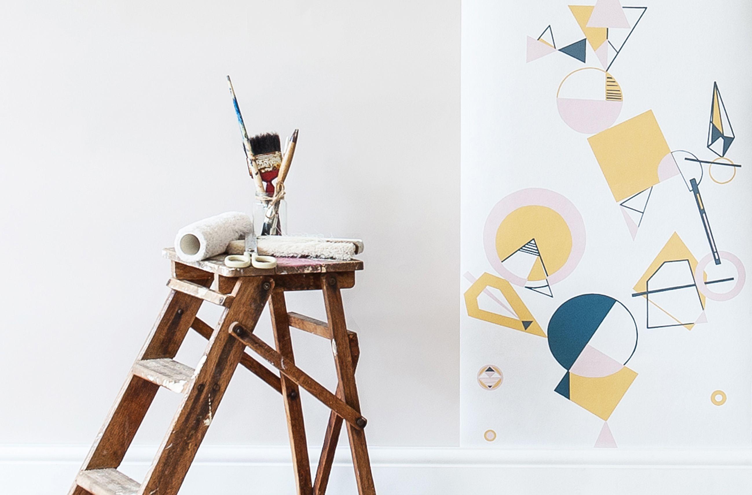 Felicity Design geo wallpaper geo wallpaper and feature wall design