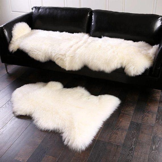 Natural New Zealand Sheepskin Rug 100 Genuine Sheep Fur Etsy Sheepskin Rug Fur Carpet Fluffy Rug