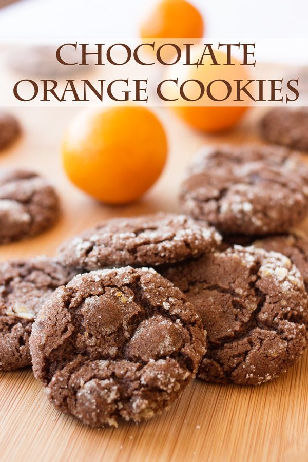 Cookies With The Delicious Flavors And Chocolate And Orange Mixed