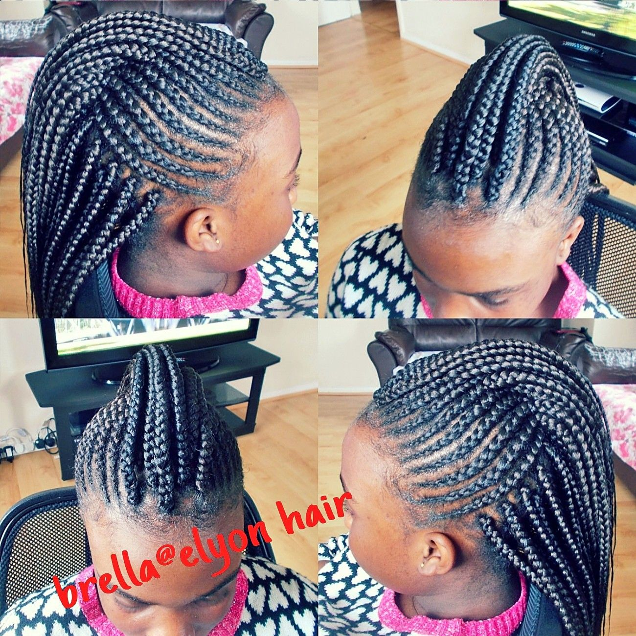 Back To School Cornrow Mohawk Box Braids Hairstyles