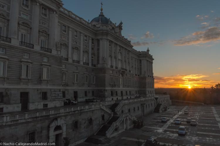 Palacio Real, Atardecer de Marzo 2013 desde el Palacio Rea