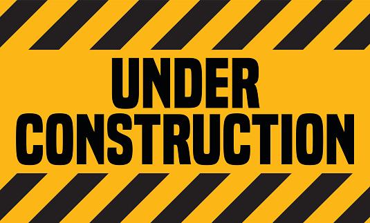 Under Construction Industrial Sign Vector Illustration Construction Signs Construction Under Construction