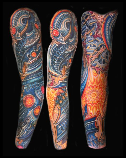 1a7ece51c BIOMECH-COVERUP-SLEEVE-TATTOO-print-book   tattoos   Full sleeve ...