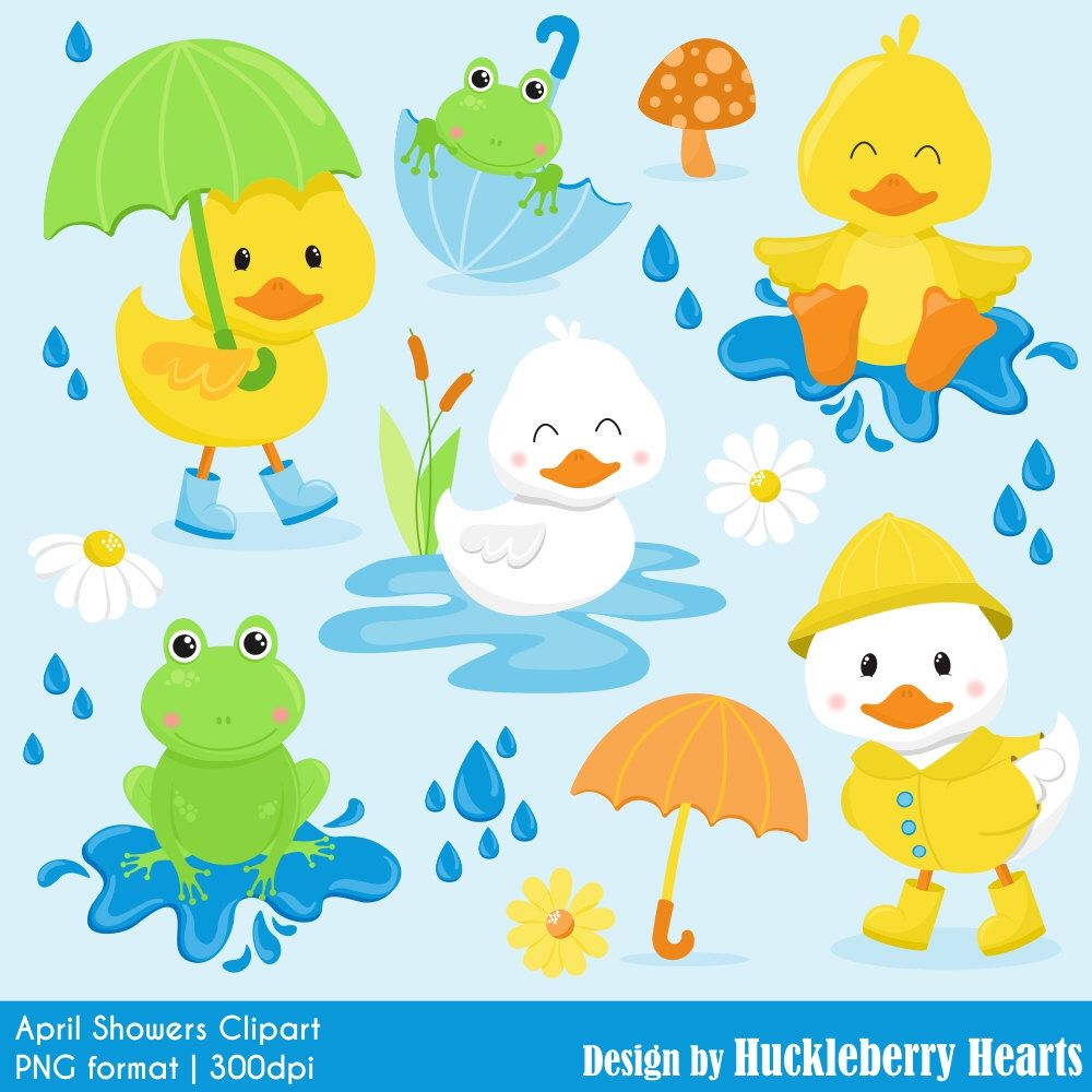 80 Off Sale Duck Clipart Frog Clipart Spring Clipart April